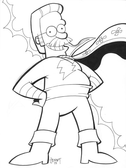 Ned Flanders Captain Marvel